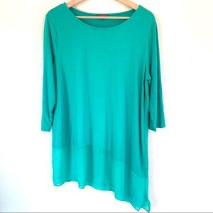 Vince Camuto turquoise 3/4th sleeve blouse size 1X